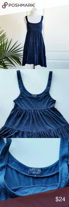 "Victoria's Secret Pink Navy Babydoll Jersey Dress Victoria's Secret University of pink babydoll dress  *Size small - Underarm to underarm : 14.5"" flat / Shoulder to hem : 32.5""  *Navy blue color *60% Cotton / 40% polyester - Machine Wash  *In great pre-loved condition with mild signs of wear  *No trade PINK Victoria's Secret Dresses"