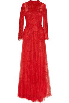 Valentino Embroidered lace gown | THE OUTNET £4,539 Original price £7,565 40% off
