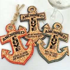 Wedding Favors Coasters, Personalized Anchor Cork Coaster, Nautical Cork Coaster Wedding Favors Rustic, Personalized Coasters - Set of 12 Nautical Wedding Centerpieces, Nautical Wedding Invitations, Nautical Wedding Theme, Candle Wedding Favors, Nautical Party, Nautical Anchor, Beach Party Favors, Beach Wedding Favors, Personalized Coasters