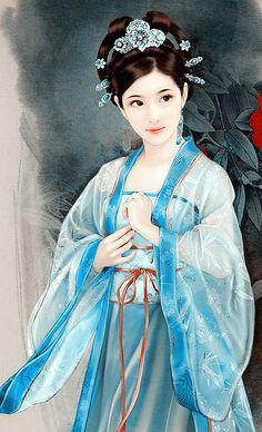Mỹ nữ cổ trang Ancient Beauty, Ancient Art, Chinese Painting, Chinese Art, Fantasy Paintings, Fantasy Art, Asian Artwork, Geisha Art, Art Asiatique