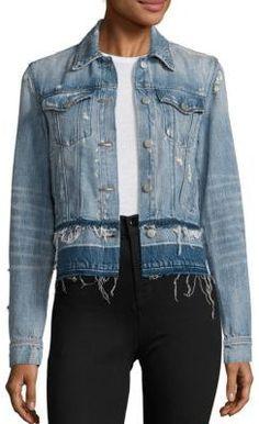 Shop Now - > https://api.shopstyle.com/action/apiVisitRetailer?id=619229842&pid=uid6996-25233114-59 J BRAND Deena Cropped Released Hem Denim Jacket ...