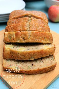 This Apple Zucchini Bread is the perfect fall loaf of bread. Hey friends, welcome back to Foodie Friday! Where every Friday of the month I, Sandra from A Dash of Sanity, will be sharing Apple Zucchini Bread, Fruit Bread, Apple Bread, Dessert Bread, Apple Loaf, Apple Bake, Zucchini Cake, Apple Recipes, Bread Recipes