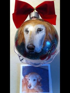 www.cyndiewade.com Christmas Animals, Custom Paint, Christmas Ornaments, Pets, Painting, Xmas Ornaments, Animals And Pets, Christmas Jewelry, Painting Art