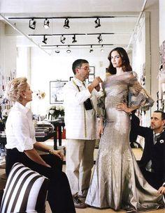 Haute Couture behind the scenes - dress fitting; fashion atelier; fashion design studio; dressmaking // Carolina Herrera