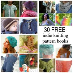 30 indie knitting designer patterns for shawls, scarves and more.
