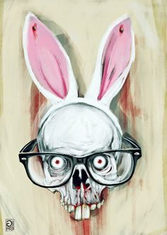 ' Hydrophobic Nerd Bunny Scalp ' by Giulio Rossi