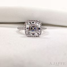 Just catching our breath over this 2 carat asscher cut.