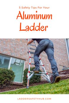 Want to know how to better use your aluminum ladder? Here are some tips for how to use your aluminum ladder safely. Aluminium Ladder, Safety Tips, Need To Know, How To Apply