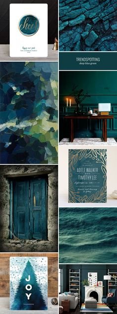 2016 Stationery Color Trends : Deep Blue Green