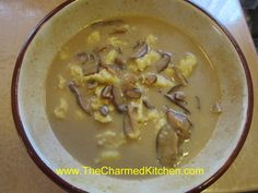 Mom's Polish Mushroom Soup   The Charmed Kitchen Best Mushroom Soup, Mushroom Soup Recipes, Polish Soup, Slow Cooker Recipes, Cooking Recipes, Hot Soup, Polish Recipes, How To Cook Pasta, Soups And Stews
