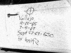 Along with his symbol, the Zodiac Killer was kind enough to report the time of death and weapon used.