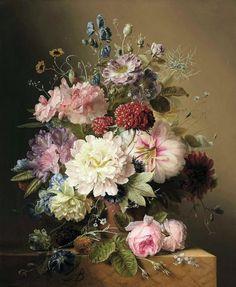 Arnoldus Bloemers (1792-1844) — Still Life of Flowers (857×1043)