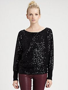 Alice + Olivia - Haley Sequined Wool & Cashmere Pullover