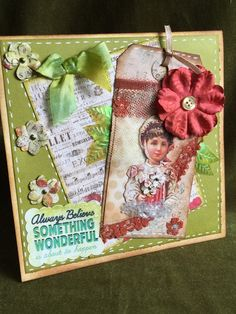 Card handmade encouragement birthday or by buttonsandbottles