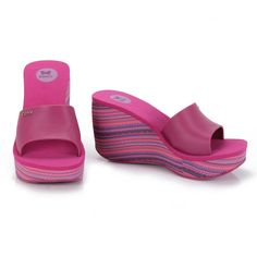Feminino - Tamanco Anabela Feminino Zaxy Lipstick Ii 16409 - Pink - Passarela.com - Calçados online