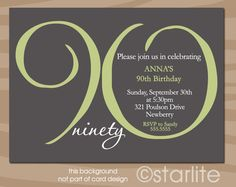 90th Birthday Invitation Wording Messages, Greetings and Wishes - Messages, Wordings and Gift Ideas