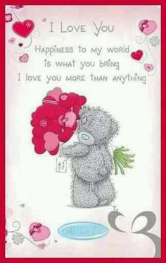 I Love You says; TEDDY