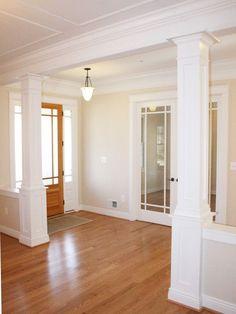 Trim Interior Columns, to divide basement areas.