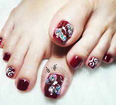 Pedicure Nail Art, Toe Nail Art, Manicure, Bling Acrylic Nails, Pink Nail Art, Holiday Nails, Christmas Nails, Hair And Nails, My Nails