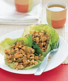 Spicy Ginger Chicken in Lettuce Cups - GoodHousekeeping.com