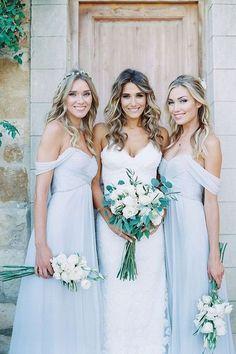 Light Blue Bridesmaid Dresses,Bridesmaid Dresses Long,Boho Bridesmaid Dresses,Rustic Wedding,Maid of Honor Dresses,FS068