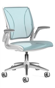 Humanscale Diffrient World task chair in cyan