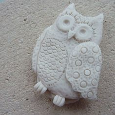 Silver Clay Owl #owl #silver #clay #jewelry #mould