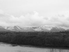 Snow on Snowdon North Wales 🏴 24/02/18 #IPhone #Photography #NoirFilter #MyArt #MyPhoto View taken from Anglesey near the Britannia Bridge