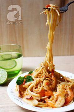Món ngon cuối tuần: Mì Ý hải sản - Afamily Mobile