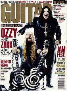 Zakk Wylde and Ozzy Osbourne magazine