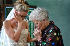 """Chris Smith from Ivey Photography captured the sweetest, emotional moment with Melissa and her grandmother before the ceremony. """"Melissa's grandmother came in to the bride's suite and offered her a gift.  The gift was Melissa's grandmother's wedding ring.  The moment was VERY emotional, and as you can see from the photo, tears literally FLOWED.... Thanks for letting us have the opportunity to make an image like this in such a beautiful place."""""""