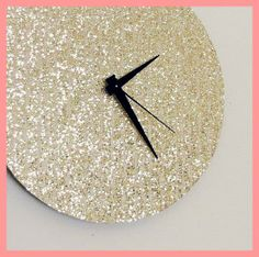 Glitter wall clock.  #DecorbyMe  @ForRent.com