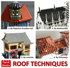 #1074 TECHNIQUE DISCUSSION: Roof techniques Lego Ww2, Lego Display, Amazing Lego Creations, Lego Builder, Lego Construction, Lego Castle, Lego Room, Lego Architecture, Lego House