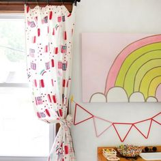Add color to any room with hand-painted abstract curtains!
