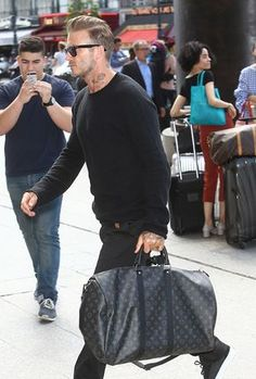 e56ede49c94c David Beckham Louis Vuitton Keepall Bag Louis Vuitton Holdall