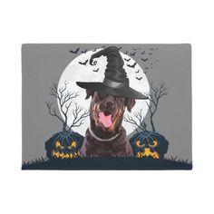 Rottweiler Halloween Pumpkin Patch Doormat   rottweiler love, rottweiler american, rottweiler memes #rottweilerfans #rottweilerofinsta #rottweilerpage Halloween Poster, Cute Halloween, Halloween Pumpkins, Rottweiler Love, Rottweiler Puppies, Bat Flying, Mug Designs, Cartoon Styles, Witch