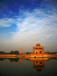 Hiran Minar... Constructed by Emperor Jehangir in memory of his favorite pet blackbuck named Mansraj... Just outside Lahore