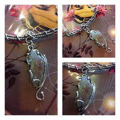 OOAK Druzy and Sterling SIlver Pendant Wire by GypsyPeacockJewelry, $150.00