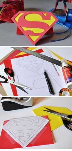 Superman Father's Day Card Easy Fathers Day Cards for Kids to Make DIY Birthday Gifts for Dad from Kids Diy Father's Day Gifts Easy, Diy Father's Day Crafts, Father's Day Diy, Fathers Day Crafts, Crafts For Kids To Make, Gifts For Kids, Diy Birthday Gifts For Dad, Birthday Cards, Daddy Day