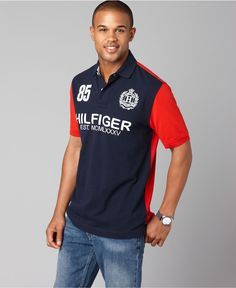 Another great Tommy Hilfiger polo shirt. Polo Rugby Shirt, Slim Fit Polo Shirts, Polo T Shirts, Casual Shirts, Mens Fashion Wear, Sport Fashion, Men's Fashion, Camisa Polo Tommy, Tommy Hilfiger Shirts