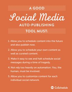 social media auto-publishing must-haves