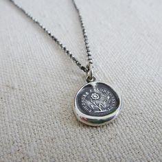 Gratitude Sunflower Wax Seal Necklace by PlumAndPoseyInc