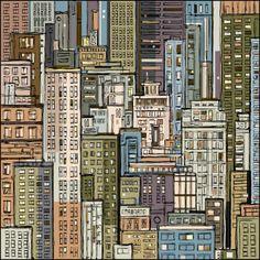 Dahabian |Cityscape, hand-drawn vector