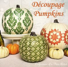 Fun Fall Projects...Découpage Pumpkins