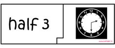 Puzzels Klokkijken - Halve Uren - Juf Inger