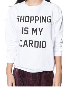 Shopping Is My Cardio Top – Milk & Honey Boutique - Online Women's Clothing Boutique Fashion Line, Fashion Details, Cool Outfits, Casual Outfits, Fashion Outfits, Funny Tees, Online Boutiques, Passion For Fashion, Cardio