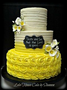 Lake House Cake by Shannon. Luxury Wedding Cakes by Shannon Gay Panama City, Florida Panama City Beach, Florida Luxury Wedding Cake, Wedding Cakes, Peace Lillies, Rosette Cake, House Cake, Taste And See, The Lord Is Good, City Beach