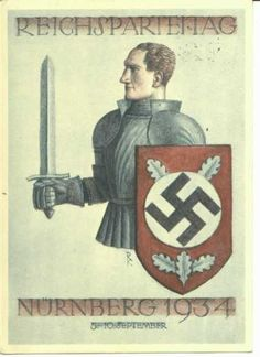 The Nazi Party, the Thule Society, the Occult, and Freemasonry Nazi Propaganda, Thule Society, Nuremberg Rally, Ww2 Posters, Carlin, Interesting History, Occult, World War Ii, Freemasonry