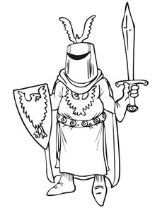 Knights Use A Mask Coloring Pages For Kids Printable Castles And