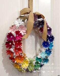 Marelle Taylor Stampin' Up! Demonstrator Sydney Australia: Rainbow Wreath